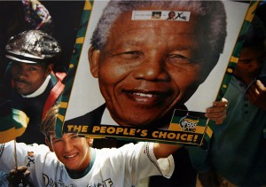 A rally in the lead-up to the South African presidential election in 1994